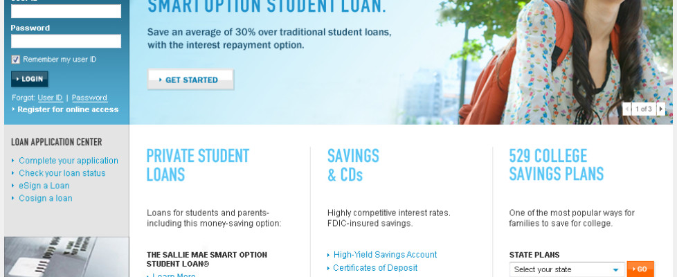 Sallie Mae Redesign Home Page